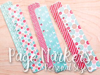 Retro Hugs | Page Markers | Christmas #1 | Personal Size
