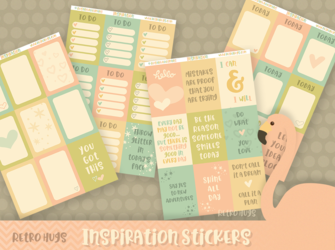 Inspiration | Sticker Kit | 4 Sheets